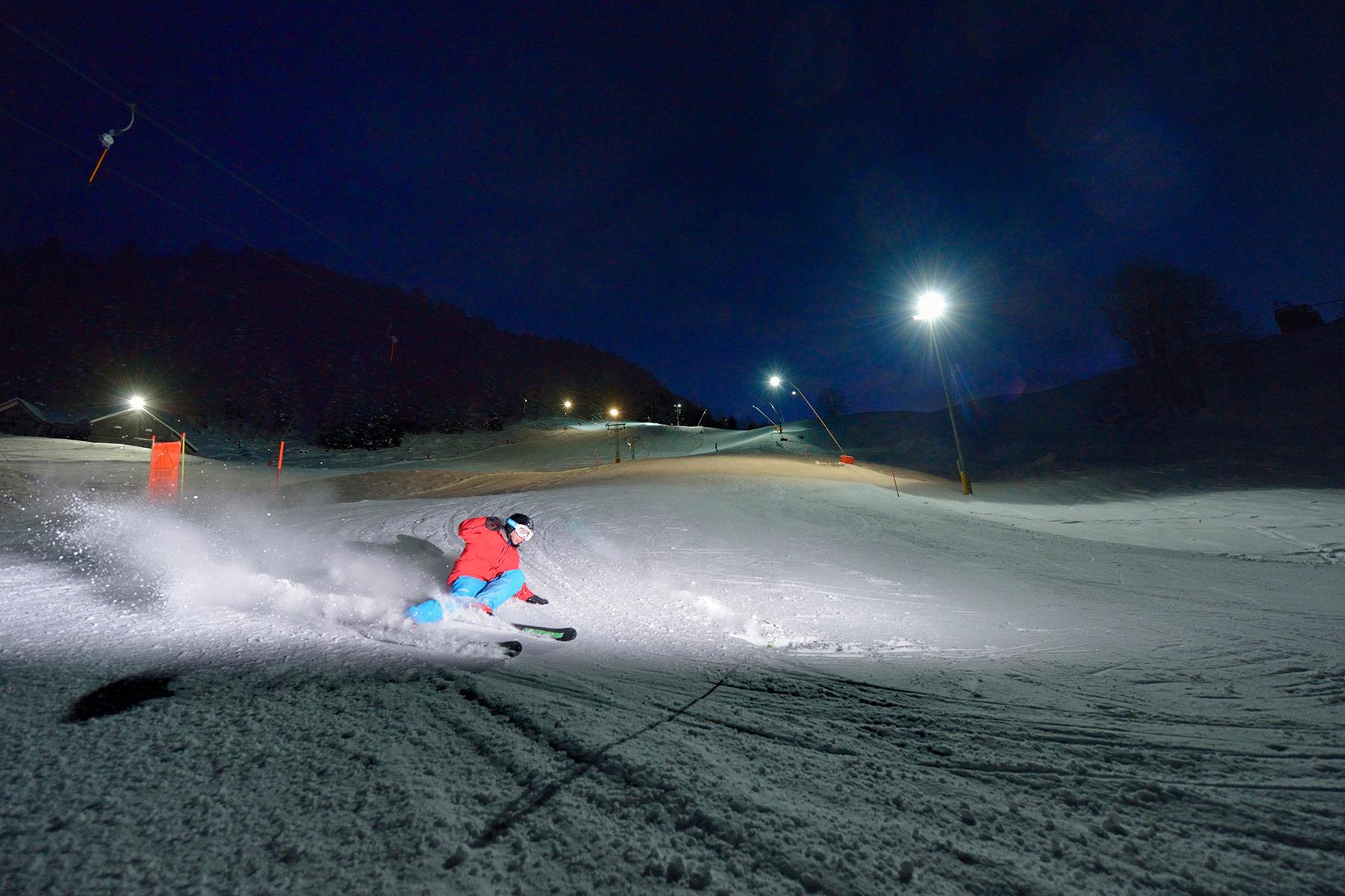 Skitest am Horn